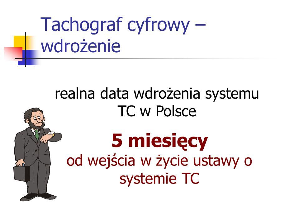 Tachograf cyfrowy – wdrożenie