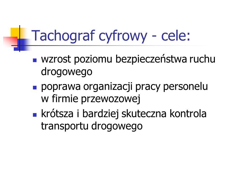 Tachograf cyfrowy - cele: