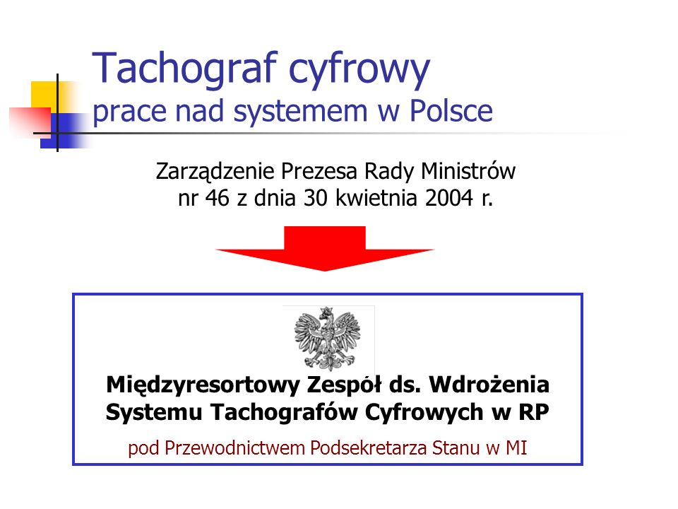 Tachograf cyfrowy prace nad systemem w Polsce