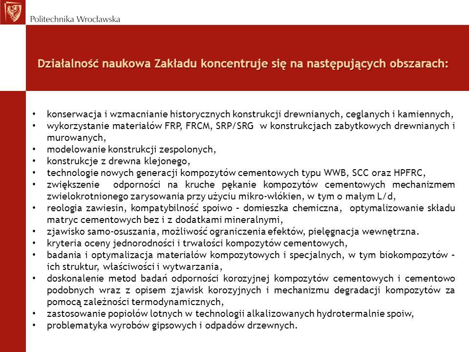 Działalność naukowa Zakładu koncentruje się na następujących obszarach: