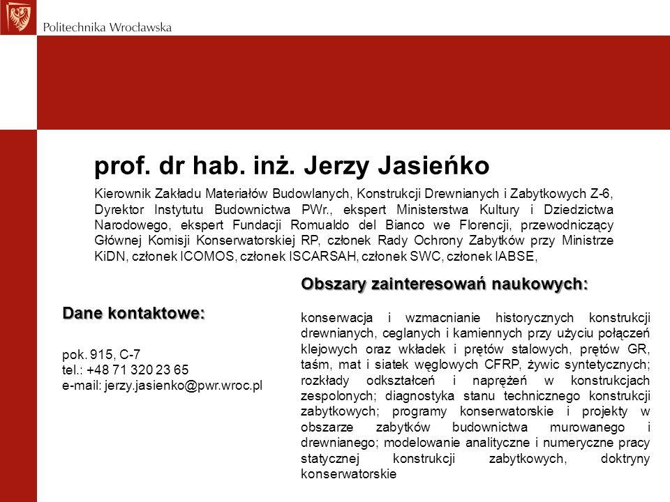 prof. dr hab. inż. Jerzy Jasieńko