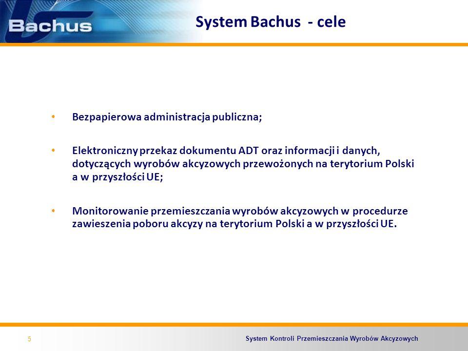 System Bachus - cele Bezpapierowa administracja publiczna;