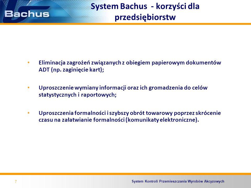 System Bachus - korzyści dla przedsiębiorstw
