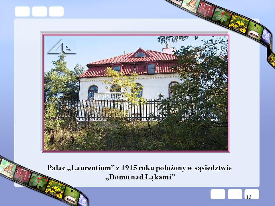 """Pałac """"Laurentium z 1915 roku położony w sąsiedztwie"""