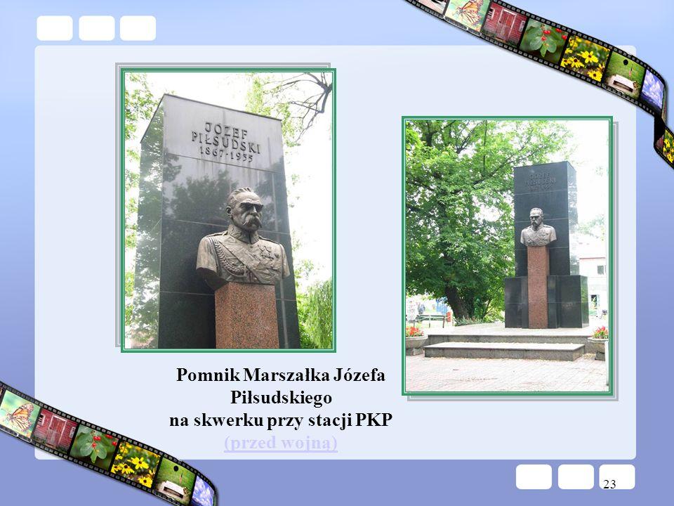 Pomnik Marszałka Józefa Piłsudskiego na skwerku przy stacji PKP