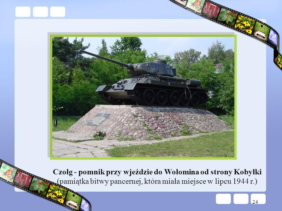 Czołg - pomnik przy wjeździe do Wołomina od strony Kobyłki