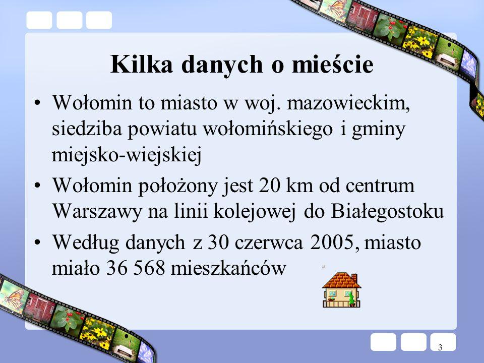 Kilka danych o mieścieWołomin to miasto w woj. mazowieckim, siedziba powiatu wołomińskiego i gminy miejsko-wiejskiej.