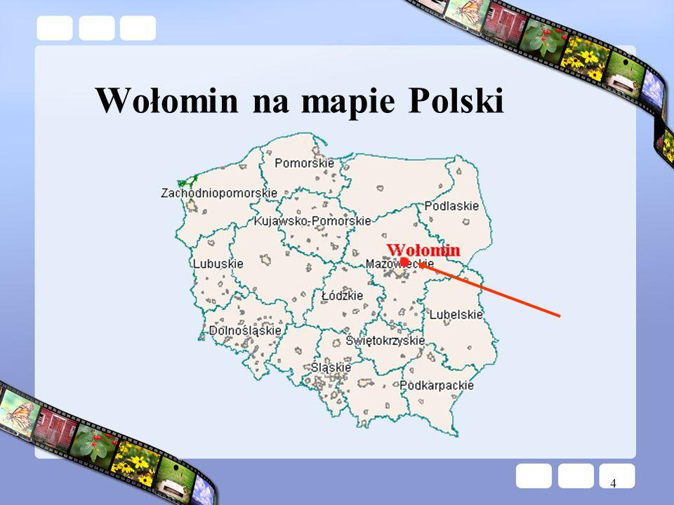 Wołomin na mapie Polski
