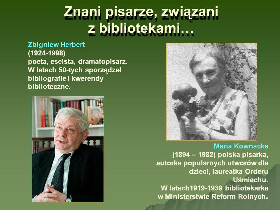 Znani pisarze, związani z bibliotekami…