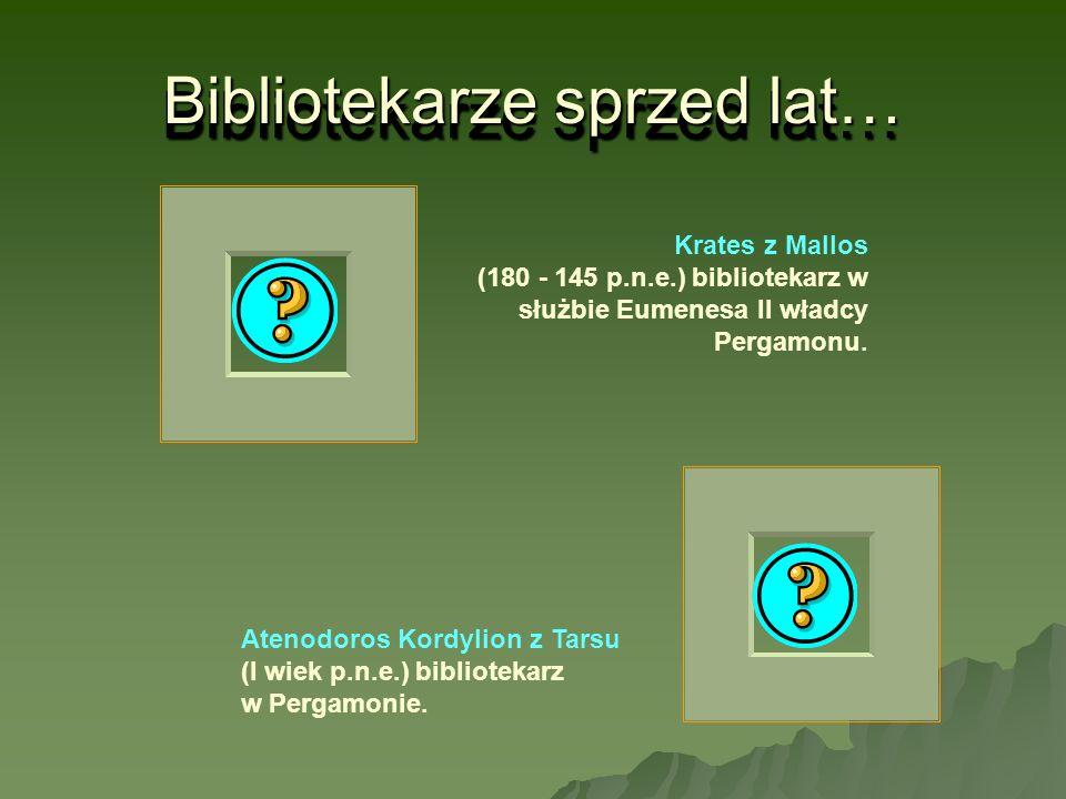 Bibliotekarze sprzed lat…