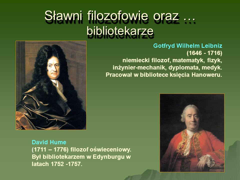 Sławni filozofowie oraz … bibliotekarze