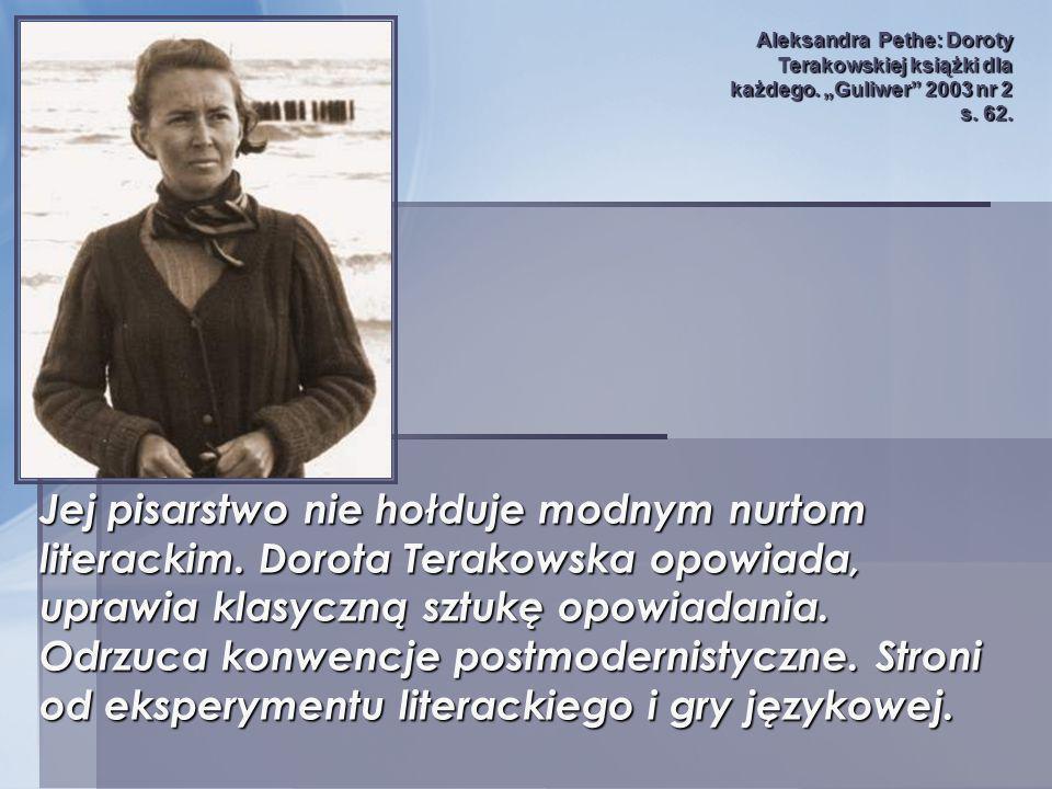Aleksandra Pethe: Doroty Terakowskiej książki dla każdego