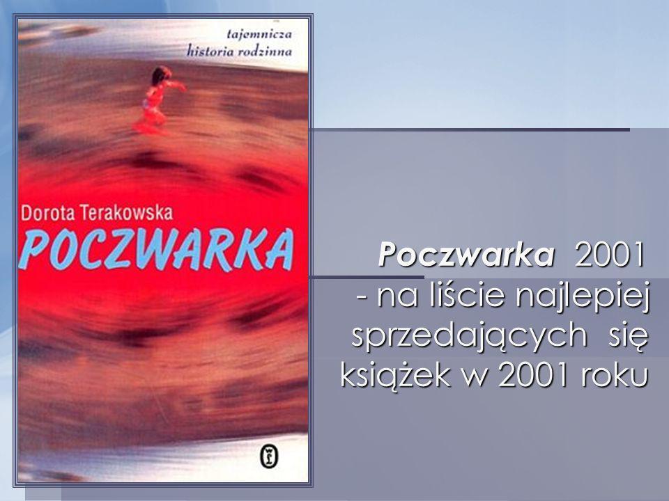 Poczwarka 2001 - na liście najlepiej sprzedających się książek w 2001 roku