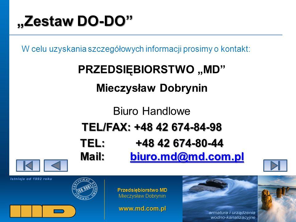 """PRZEDSIĘBIORSTWO """"MD TEL: +48 42 674-80-44 Mail: biuro.md@md.com.pl"""