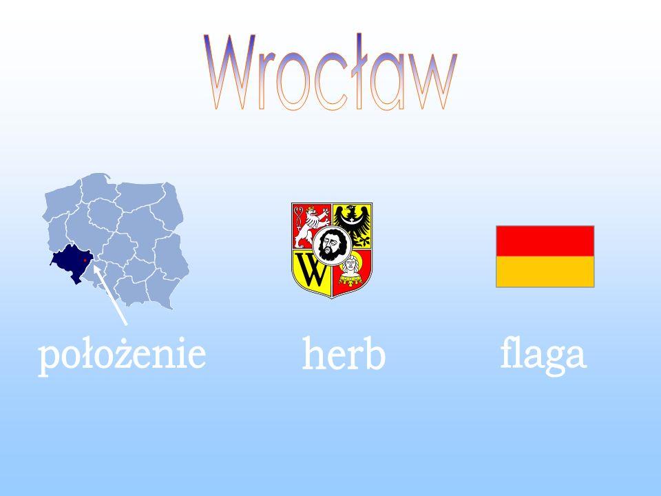Wrocław położenie herb flaga