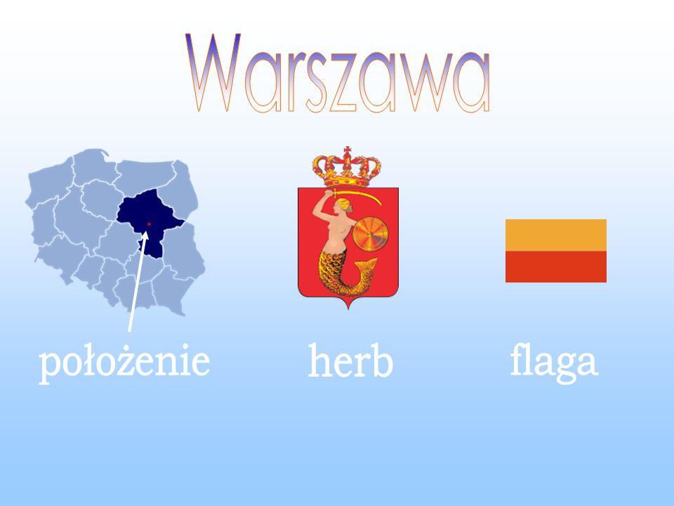 Warszawa położenie herb flaga