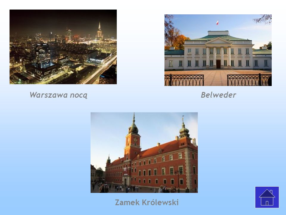 Warszawa nocą Belweder