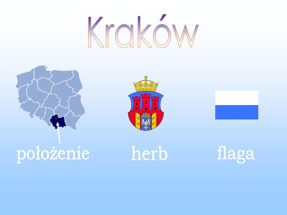 Kraków położenie herb flaga
