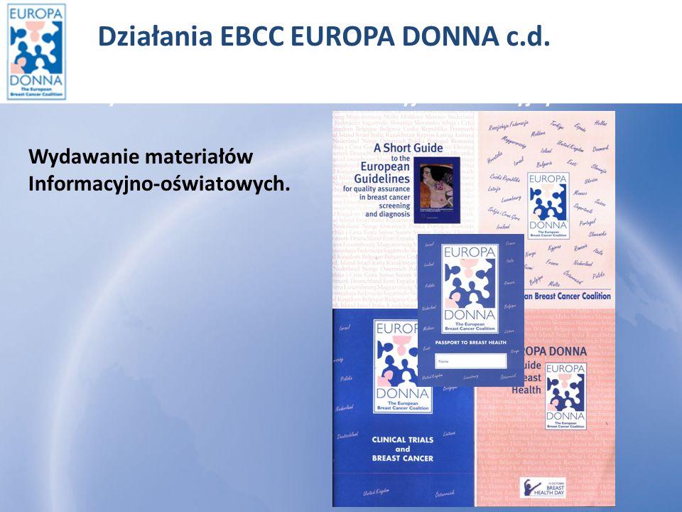 Działania EBCC EUROPA DONNA c.d.