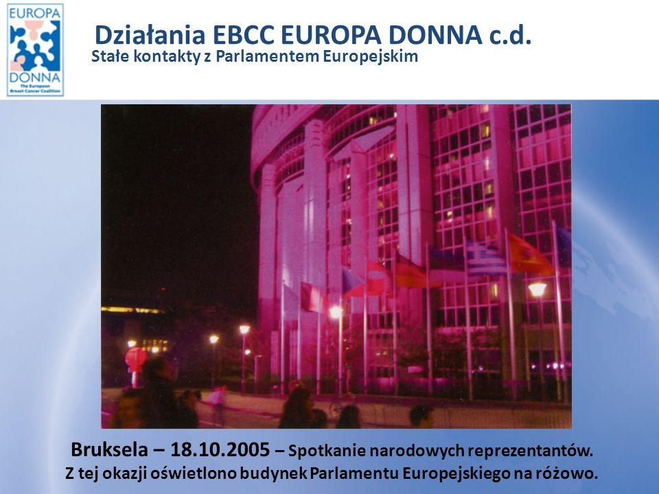 Stałe kontakty z Parlamentem Europejskim