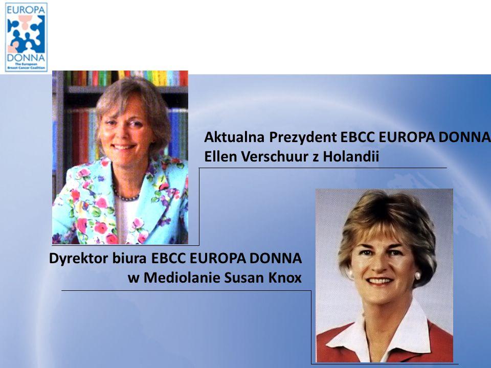 Aktualna Prezydent EBCC EUROPA DONNA Ellen Verschuur z Holandii