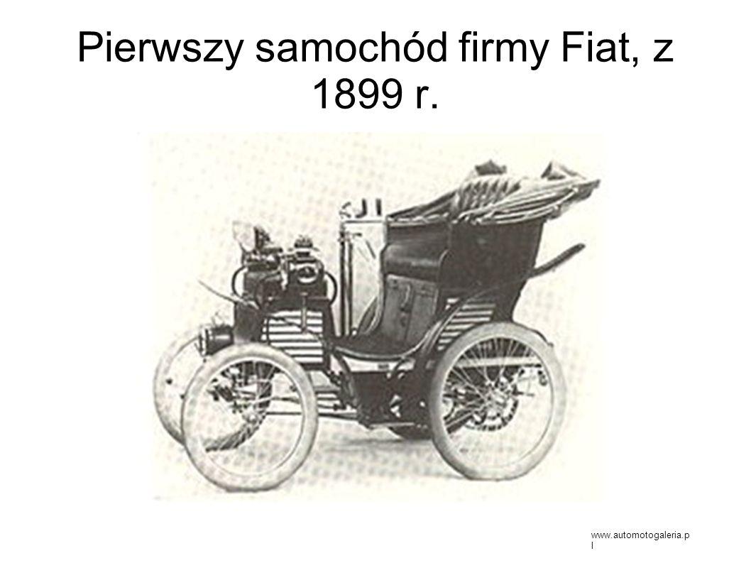Pierwszy samochód firmy Fiat, z 1899 r.