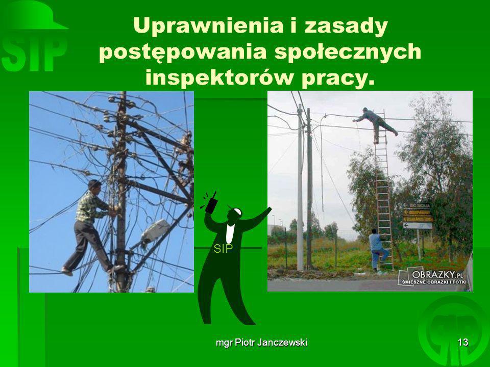 Uprawnienia i zasady postępowania społecznych inspektorów pracy.