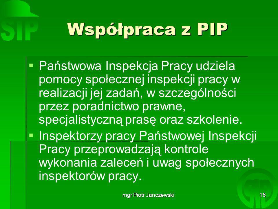 Współpraca z PIP