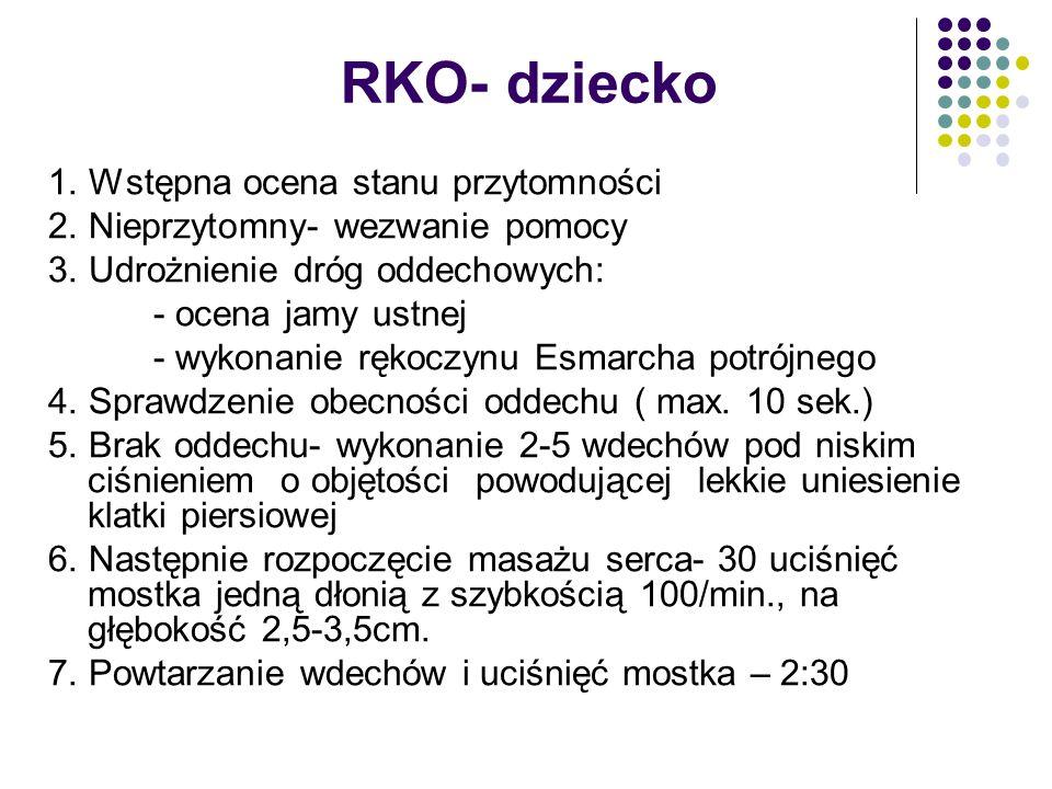 RKO- dziecko 1. Wstępna ocena stanu przytomności
