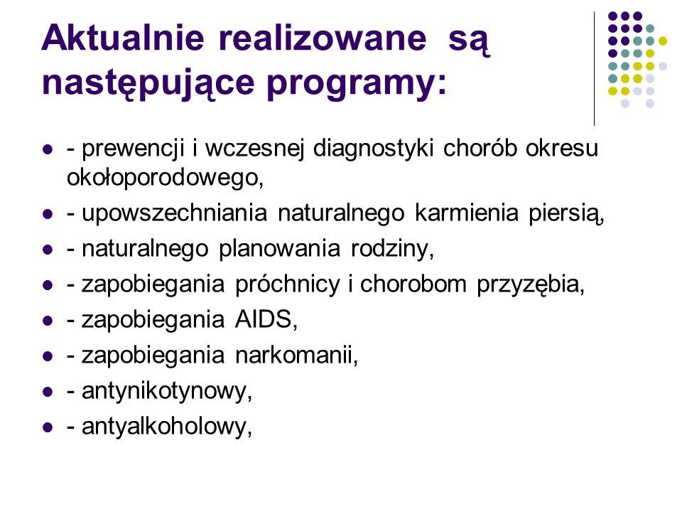 Aktualnie realizowane są następujące programy: