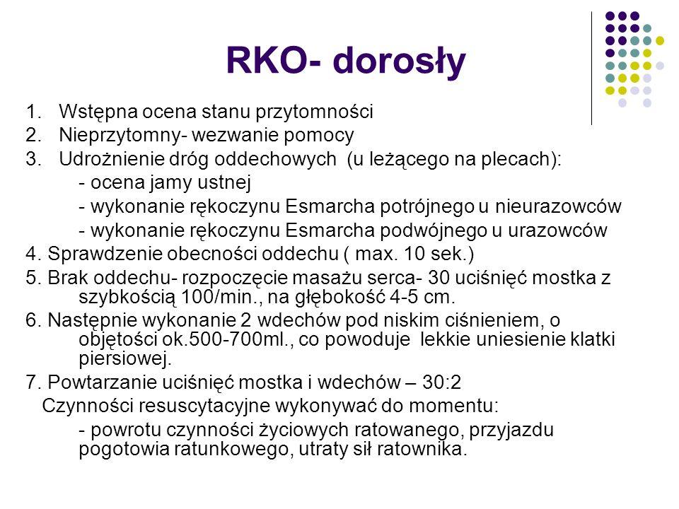 RKO- dorosły 1. Wstępna ocena stanu przytomności