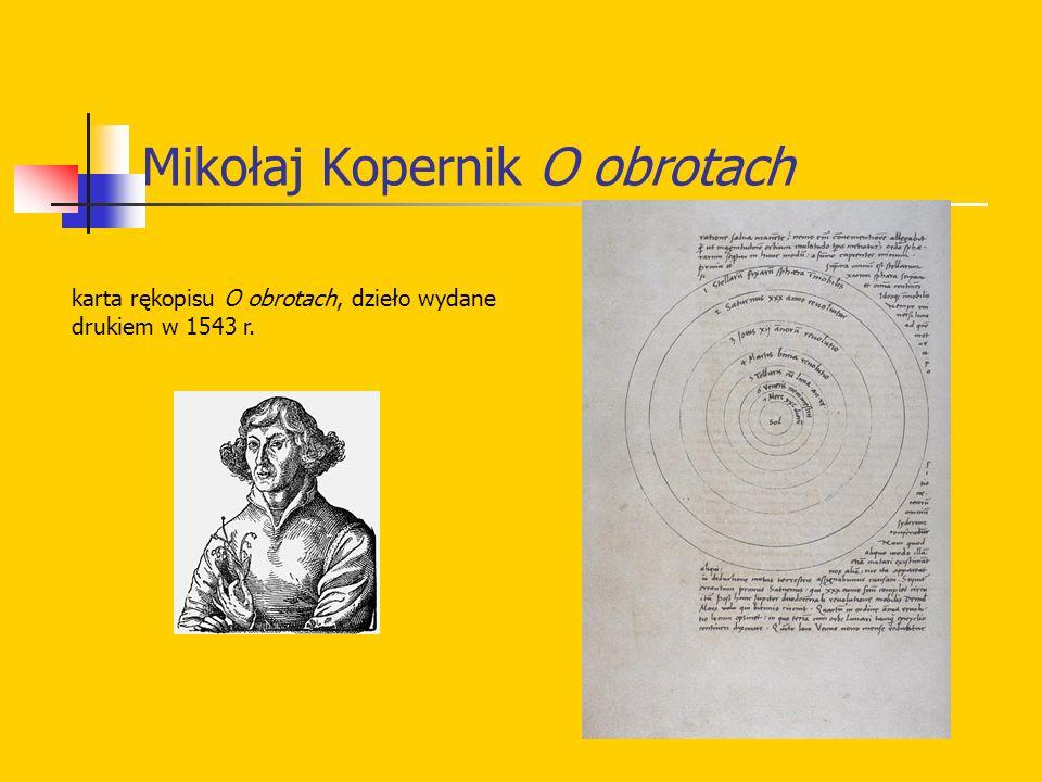 Mikołaj Kopernik O obrotach