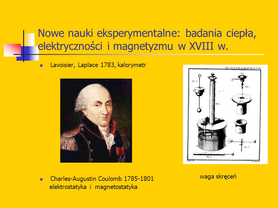 Nowe nauki eksperymentalne: badania ciepła, elektryczności i magnetyzmu w XVIII w.