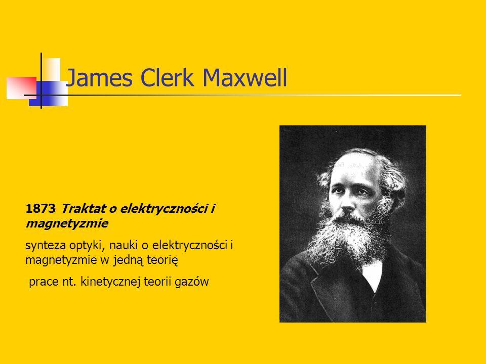 James Clerk Maxwell 1873 Traktat o elektryczności i magnetyzmie