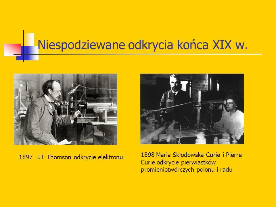 Niespodziewane odkrycia końca XIX w.