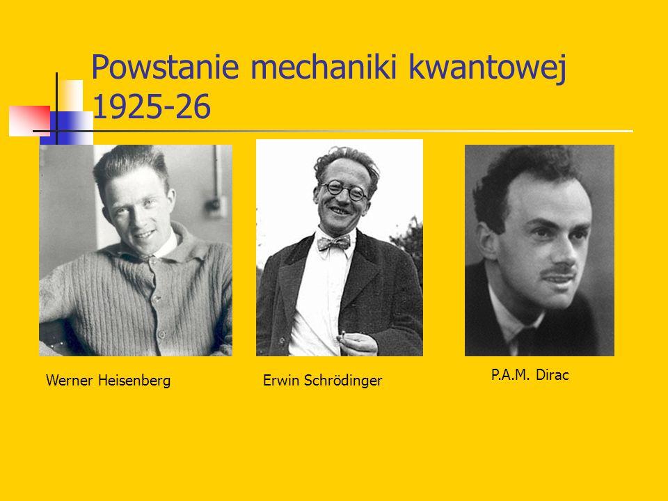 Powstanie mechaniki kwantowej 1925-26