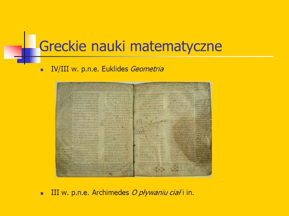 Greckie nauki matematyczne