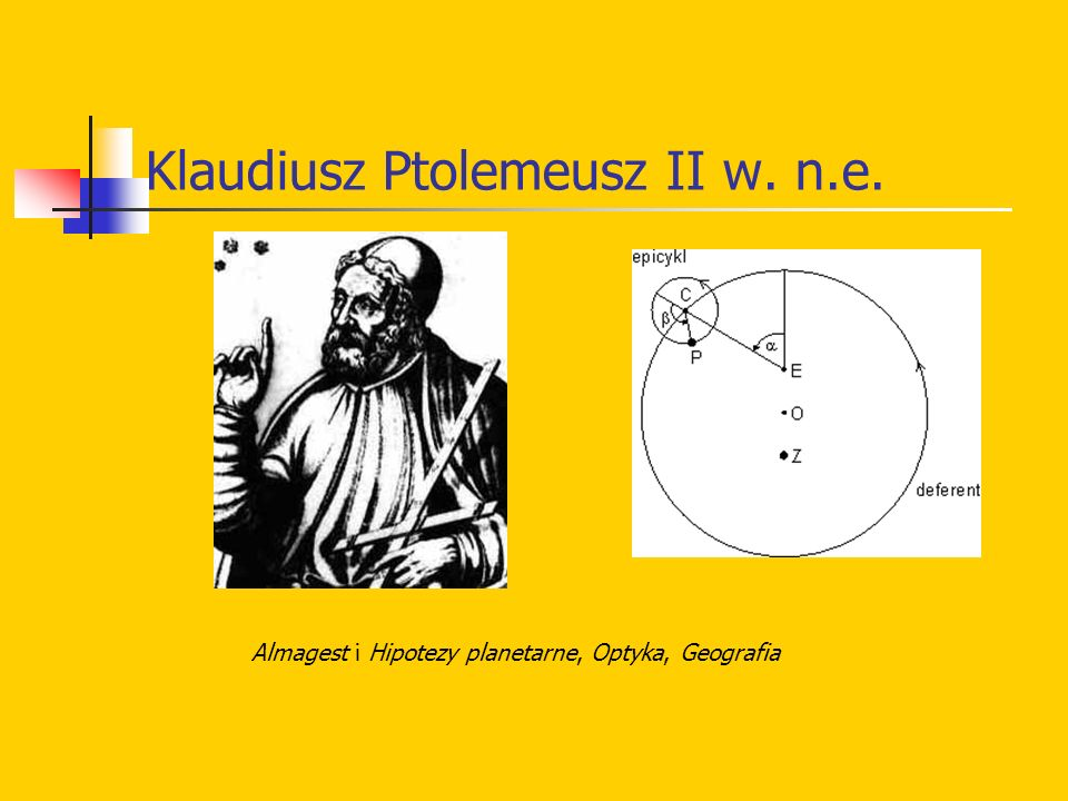 Klaudiusz Ptolemeusz II w. n.e.