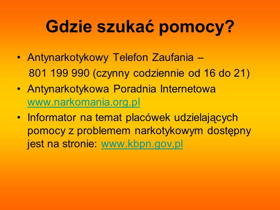 Gdzie szukać pomocy Antynarkotykowy Telefon Zaufania –