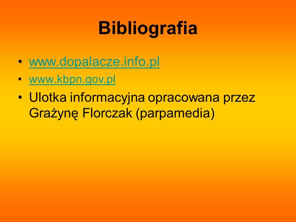 Bibliografia www.dopalacze.info.pl