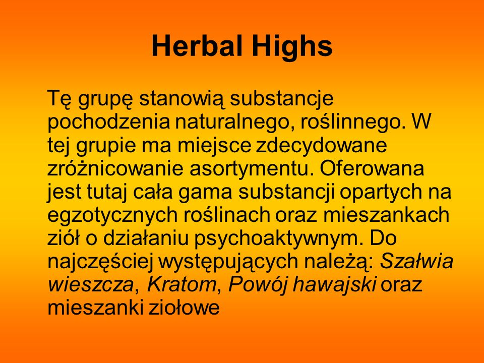 Herbal Highs