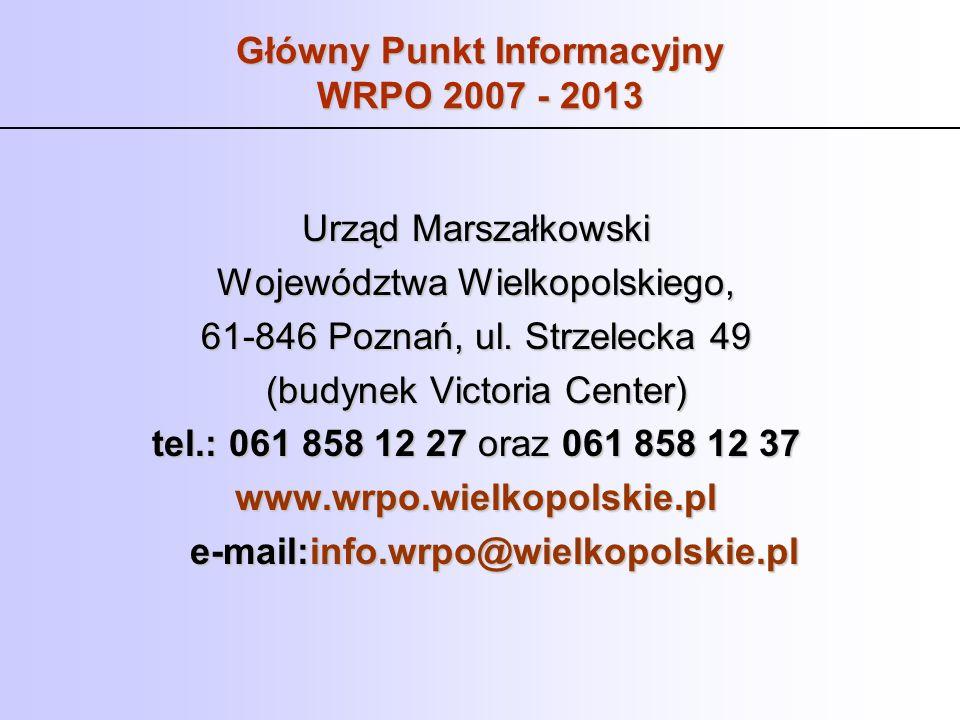 Główny Punkt Informacyjny WRPO 2007 - 2013