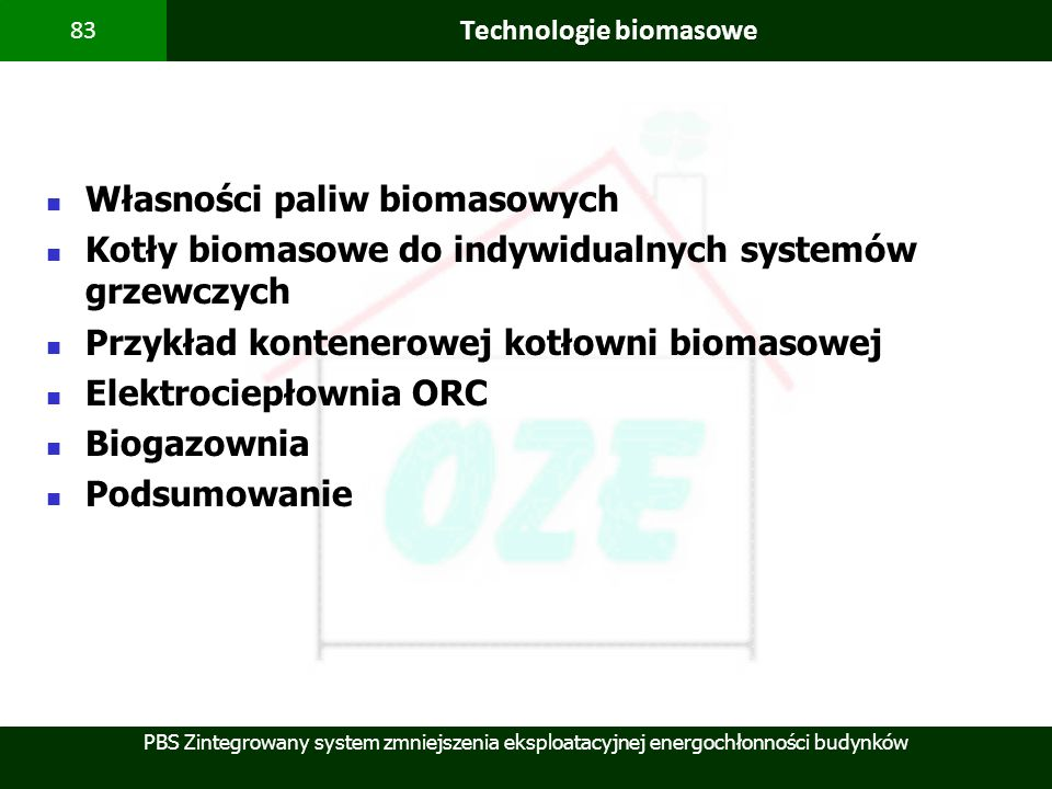 Technologie biomasowe