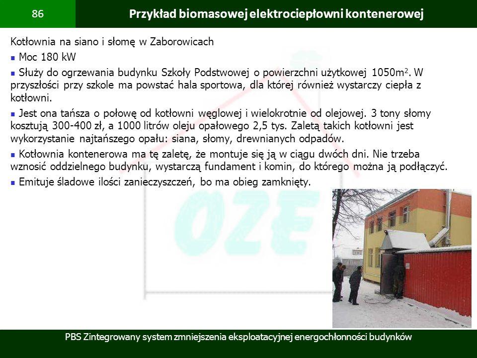 Przykład biomasowej elektrociepłowni kontenerowej