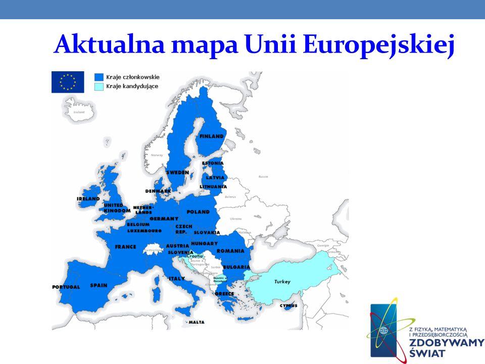 Aktualna mapa Unii Europejskiej