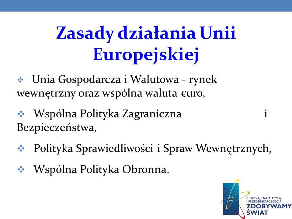 Zasady działania Unii Europejskiej