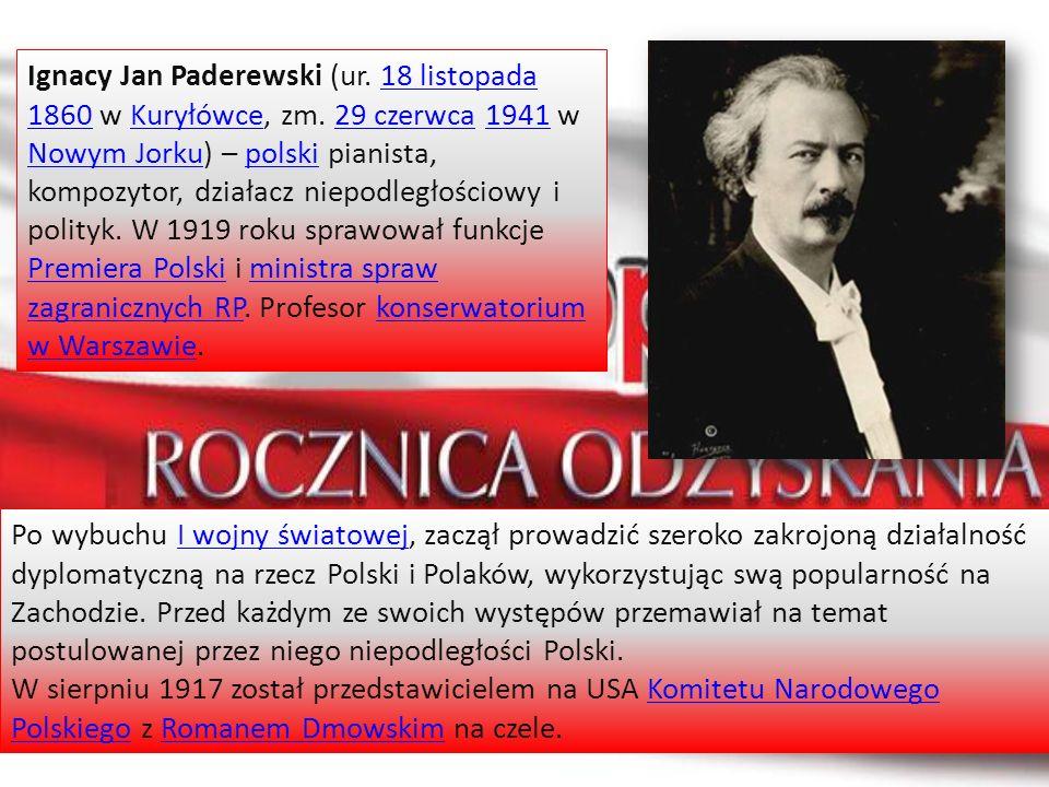 Ignacy Jan Paderewski (ur. 18 listopada 1860 w Kuryłówce, zm
