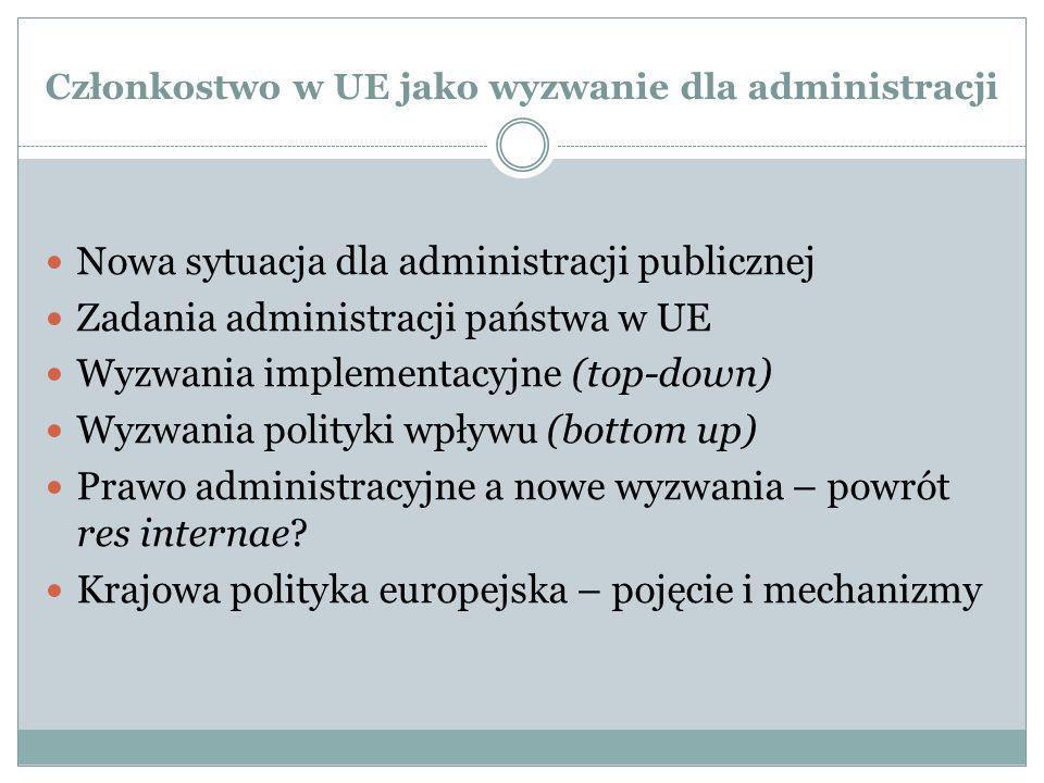 Członkostwo w UE jako wyzwanie dla administracji