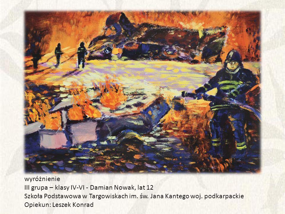 wyróżnienie III grupa – klasy IV-VI - Damian Nowak, lat 12. Szkoła Podstawowa w Targowiskach im. św. Jana Kantego woj. podkarpackie.