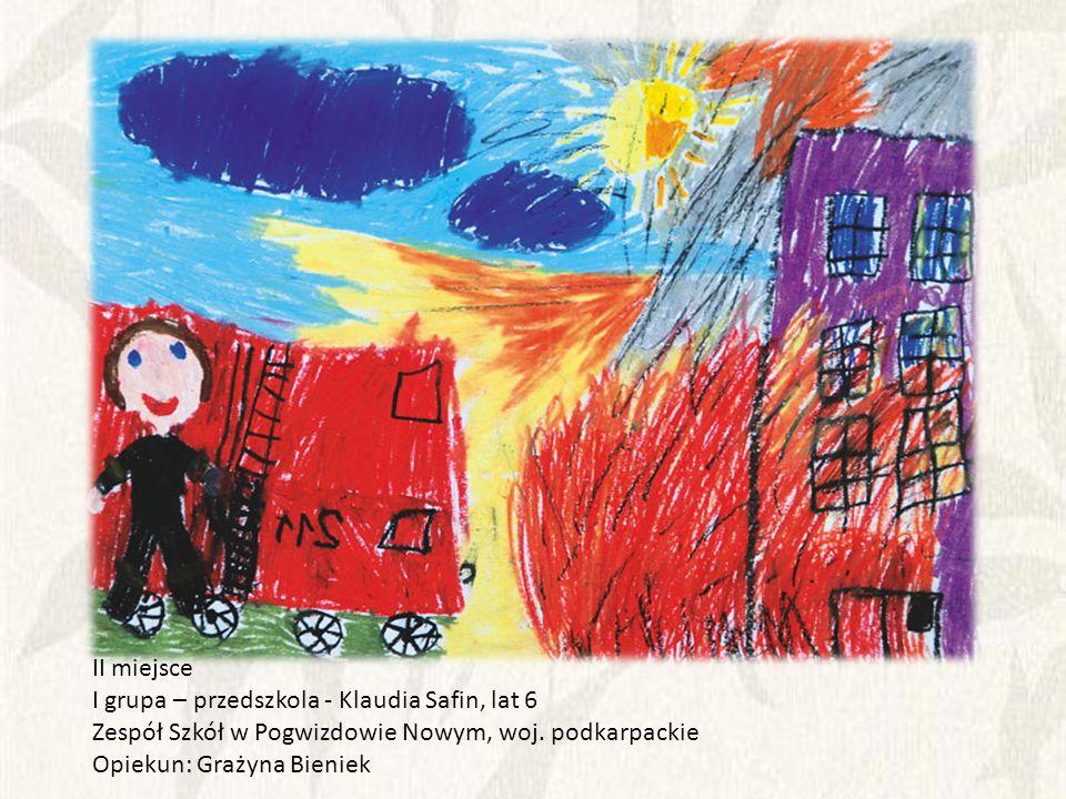 II miejsce I grupa – przedszkola - Klaudia Safin, lat 6. Zespół Szkół w Pogwizdowie Nowym, woj. podkarpackie.